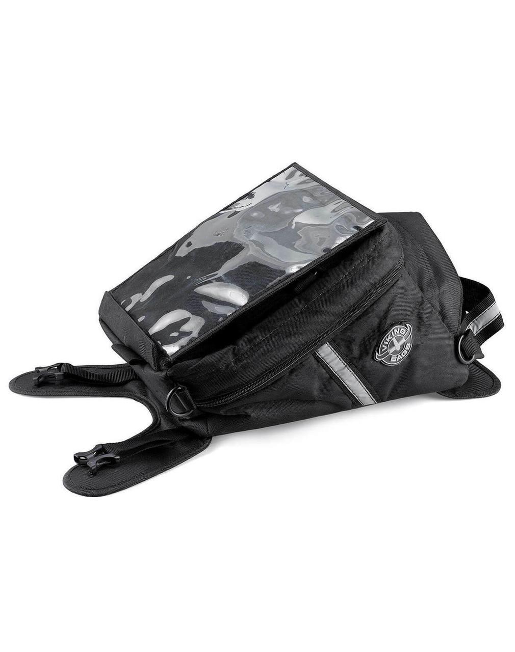 Viking Dirtman Small Black Suzuki Motorcycle Tank Bag Main Bag View