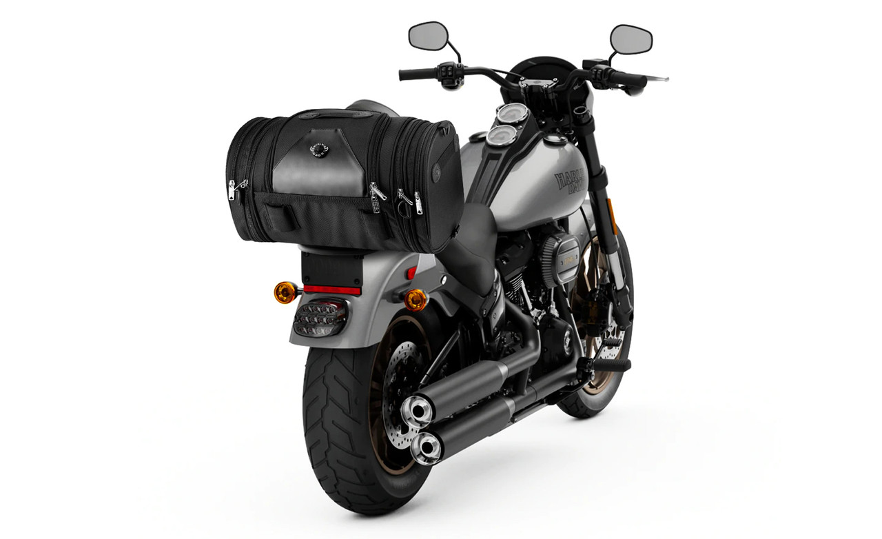 VikingBags Axwell Large Expandable Suzuki Motorcycle Roll Bag Bag On Bike View
