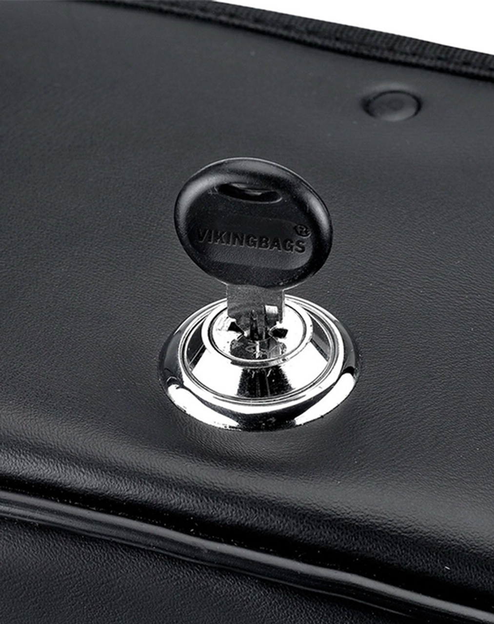 Triumph Thunderbird Viking Charger Side Pocket With Shock Cutout Motorcycle Saddlebags Key Lock View