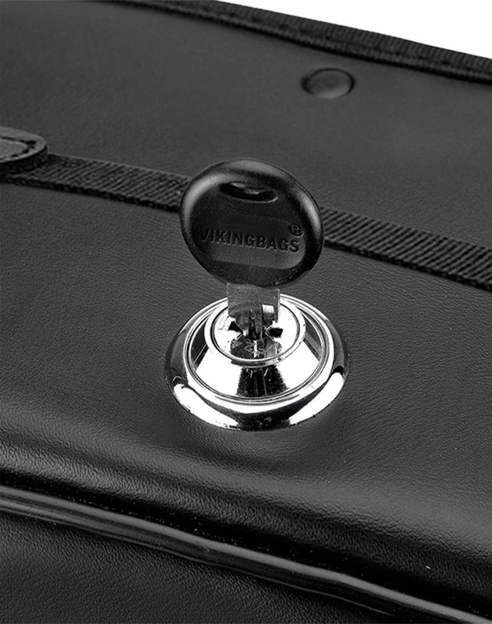 Triumph Thunderbird Shock Cutout Studded Motorcycle Saddlebags Key Lock View