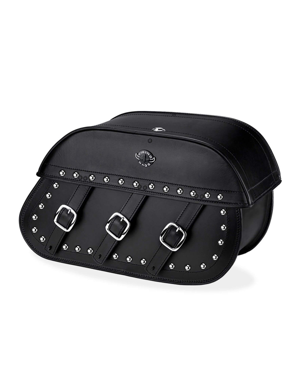 Victory Boardwalk Trianon Studded Motorcycle Saddlebags Main View