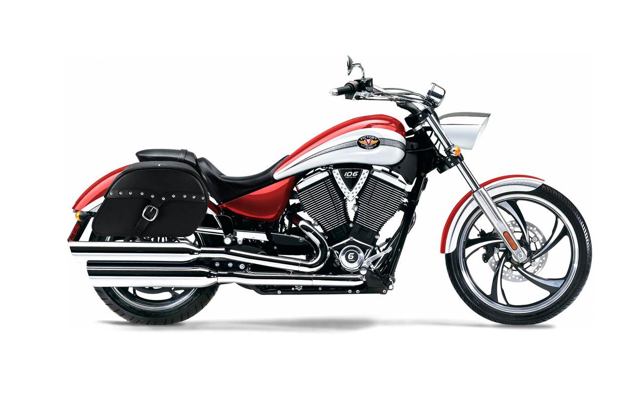 Victory Vegas Medium Charger Single Strap Studded Motorcycle Saddlebags