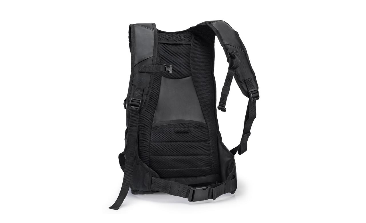 Viking Medium Black Street/Sportbike Backpack Back View