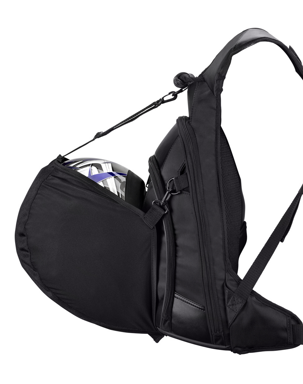 Viking Medium Black Street/Sportbike Backpack Helmet Hanger
