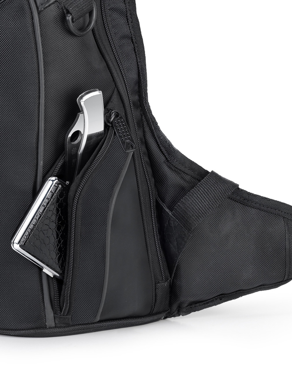 Viking Medium Black Street/Sportbike Backpack Front Pocket
