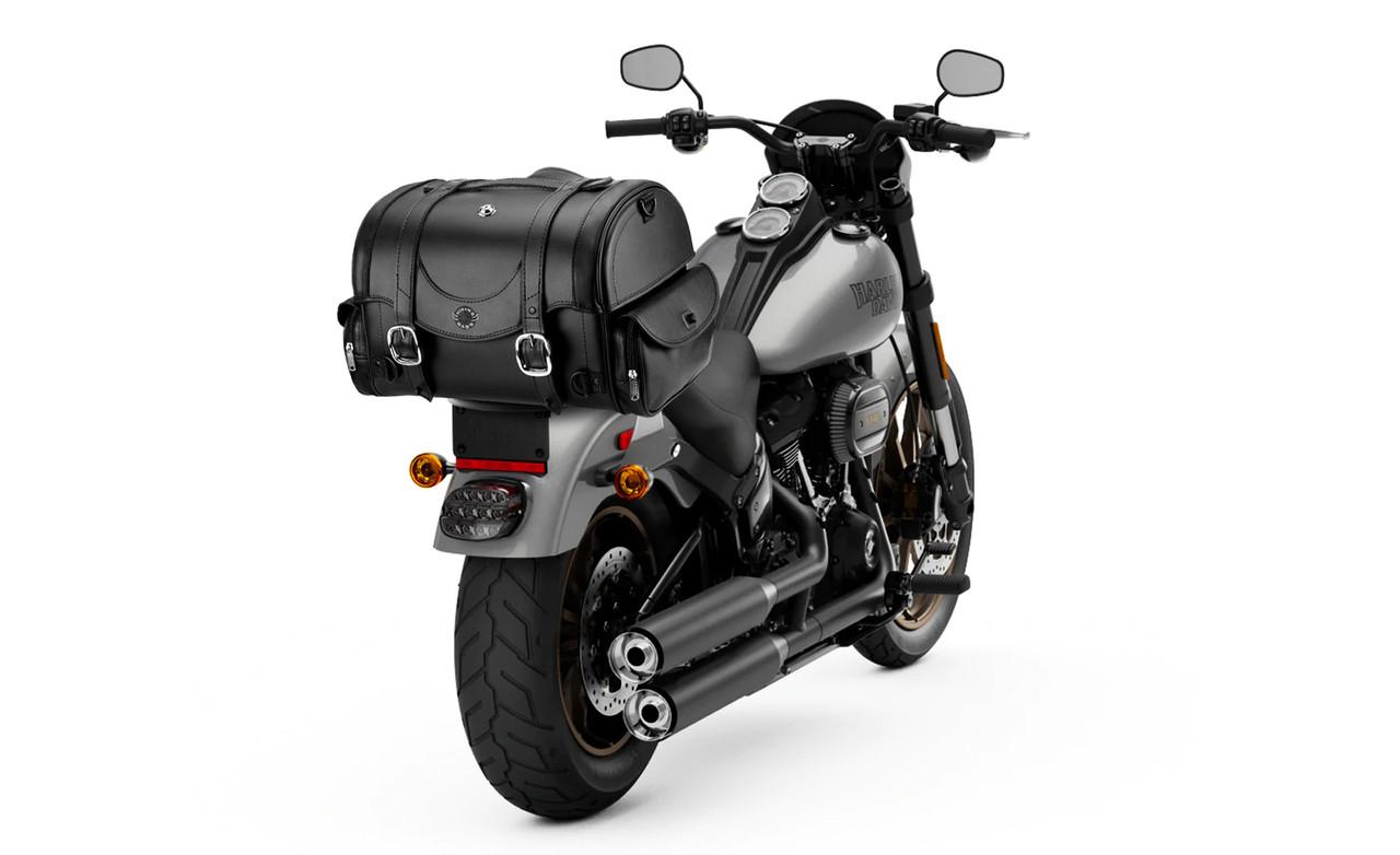 Viking Century Motorcycle Trunk Bag on Bike View