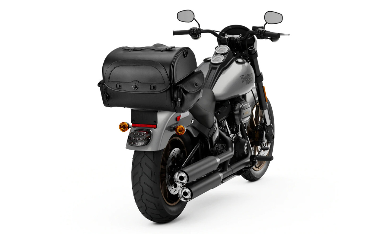 Viking Warrior Motorcycle Trunk 2400 Cubic Inches Bag on Bike view