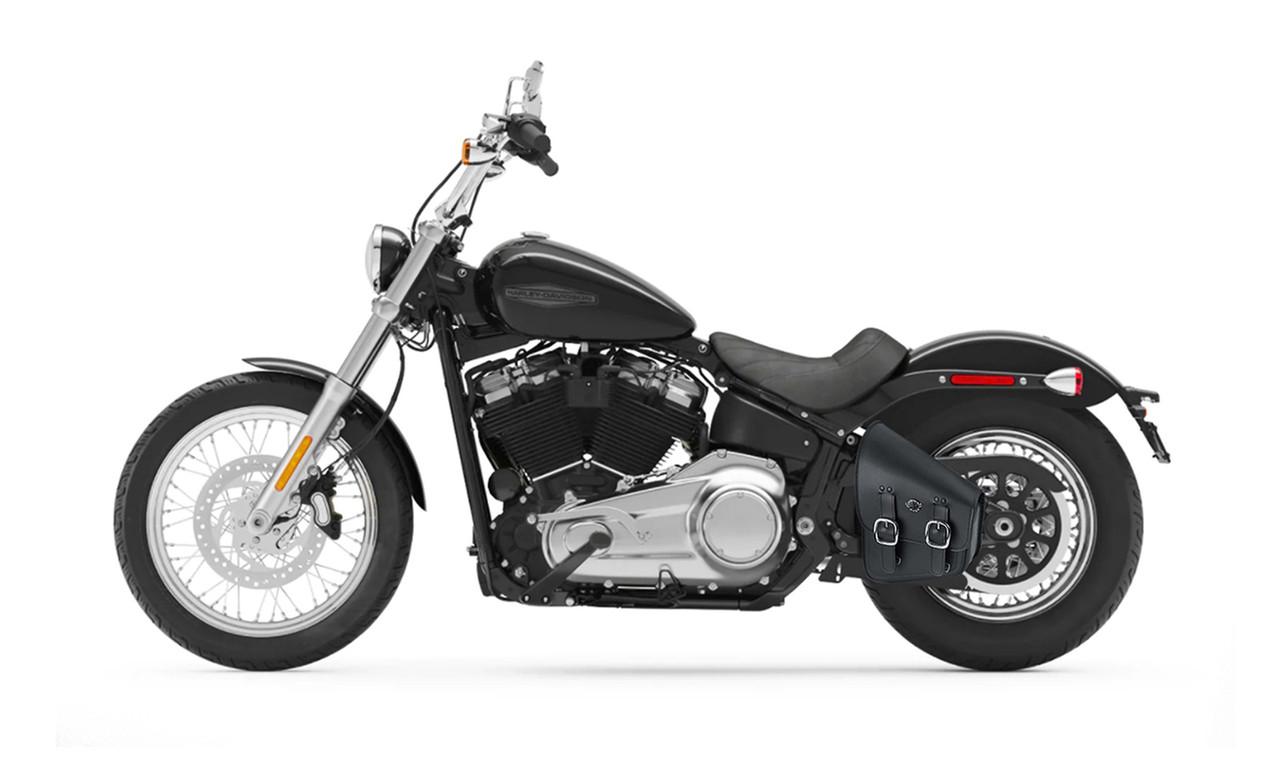 Viking Medium Swingarm Bag For Harley Softail Slim Bag On Bike View