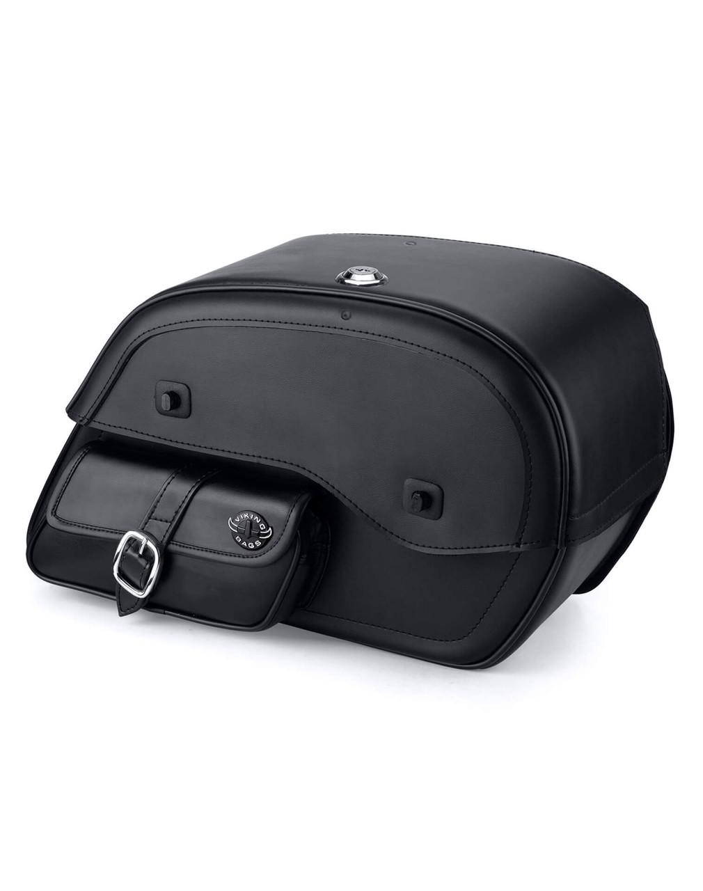 Viking Side Pocket Large Motorcycle Saddlebags For Harley Softail Springer FXSTS Main Bag View