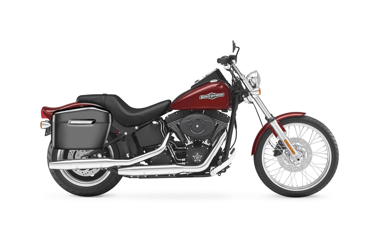 VikingBags Lamellar Blood Rider Large Painted Motorcycle Hard Saddlebags Bag on Bike View