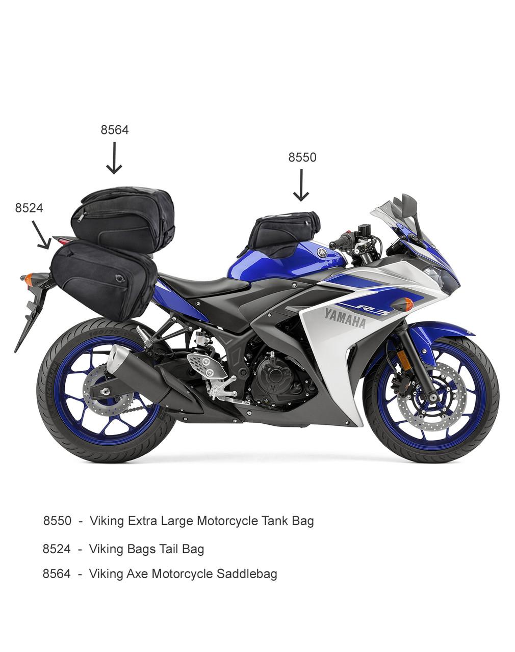 Viking 14 Medium Black Street/Sportbike Tank Bag Related Bags