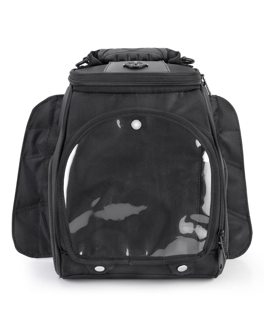 Viking 14 Medium Black Street/Sportbike Tank Bag Front View