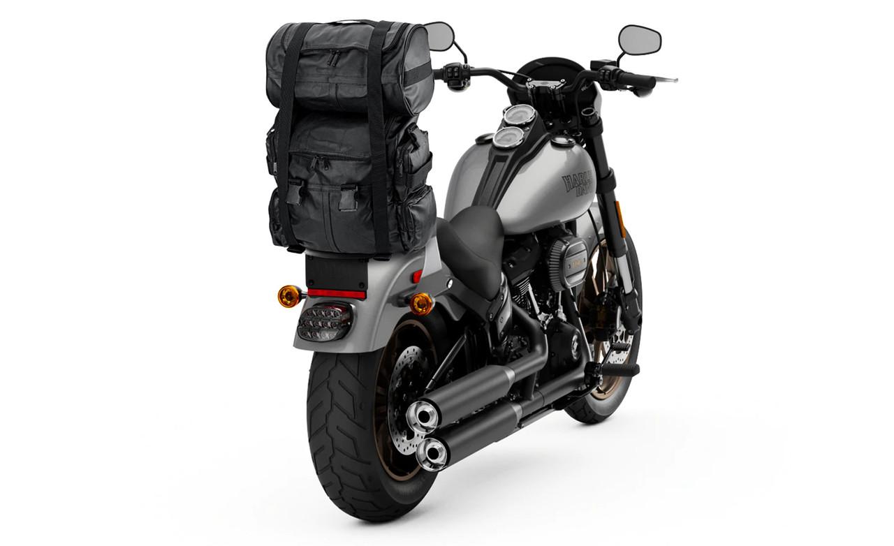 Viking Aero Medium Expandable Motorcycle Sissy Bar Bags on Bike