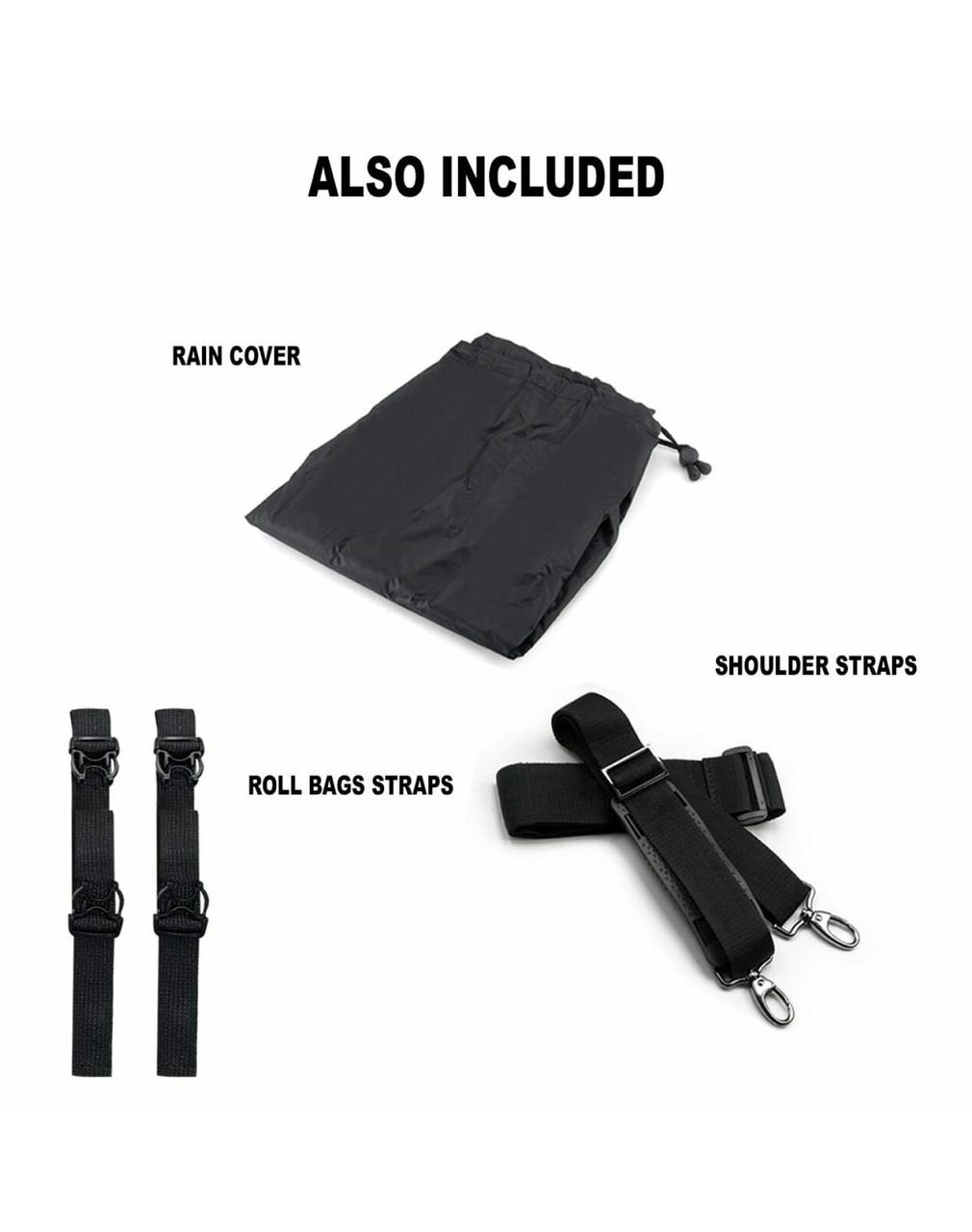 Viking Aero Medium Expandable Motorcycle Sissy Bar Bags Straps Set