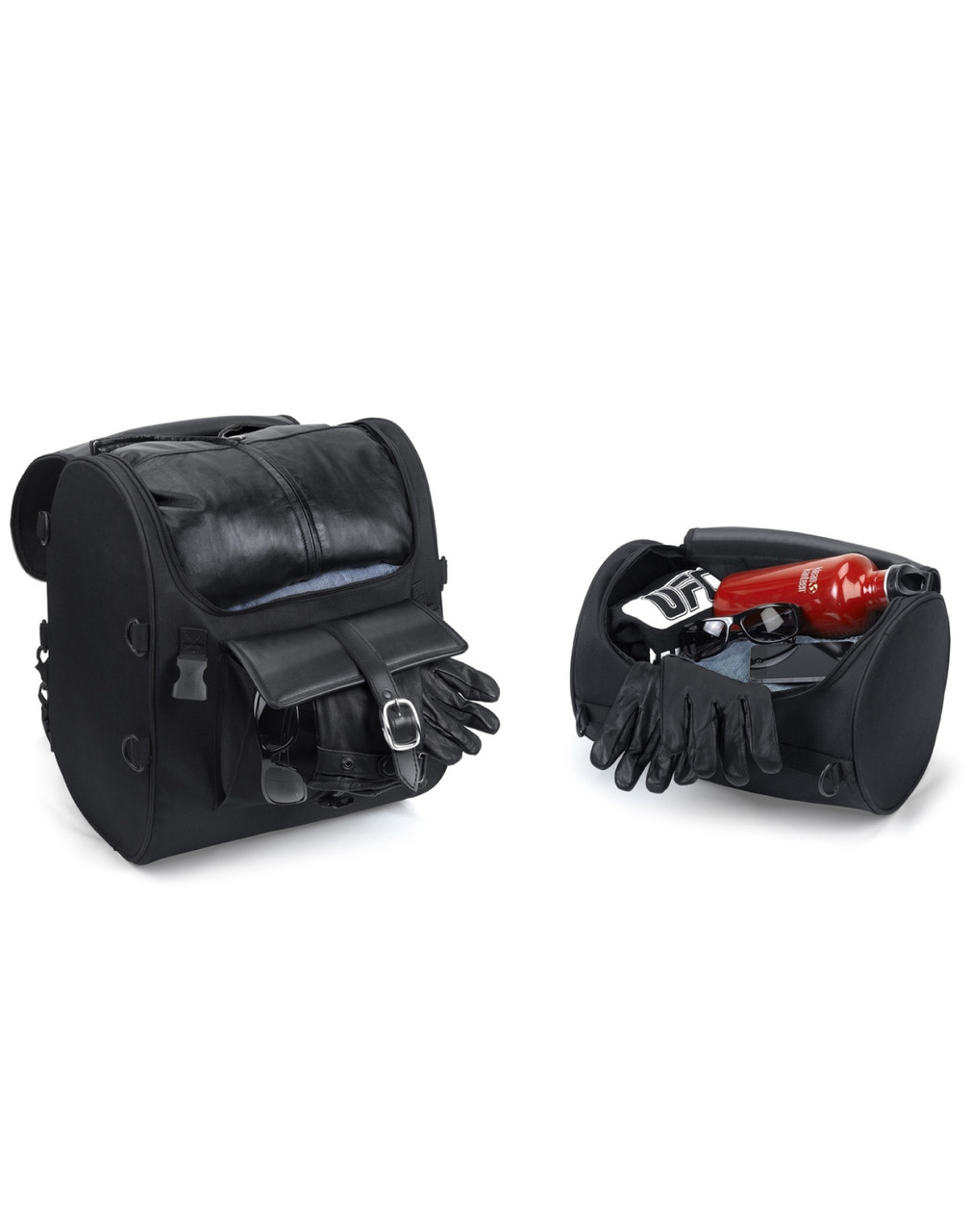Viking Economy Line Motorcycle Sissy Bar Bag With roll bag