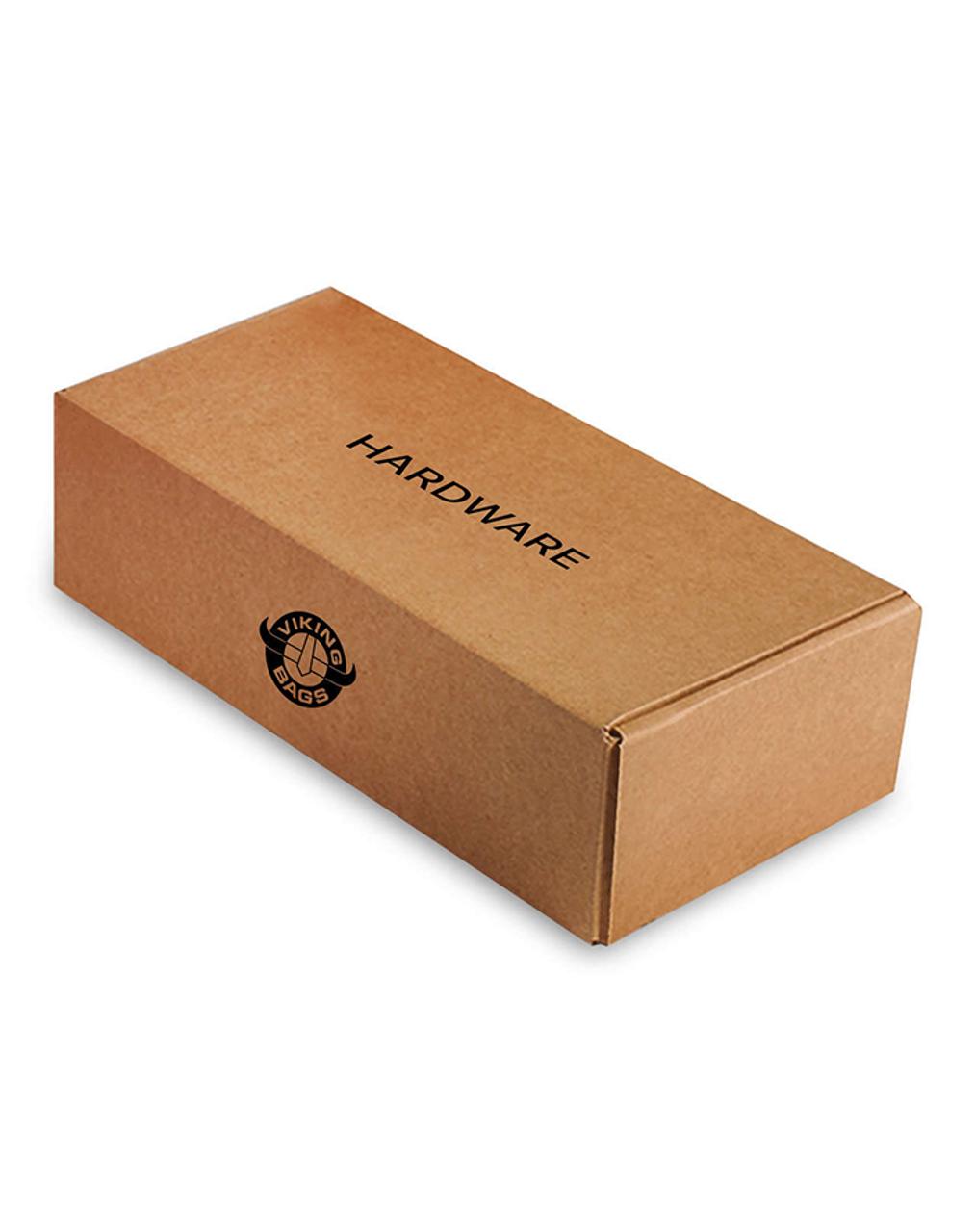 Viking Lamellar Large Black Hard Saddlebags For Harley Softail Springer FXSTS Hardware box