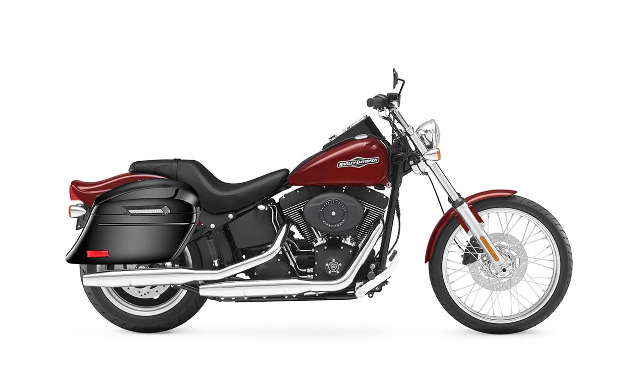VikingBags Lamellar Stallion Extra Large Painted Motorcycle Hard Saddlebags Bag on Bike View