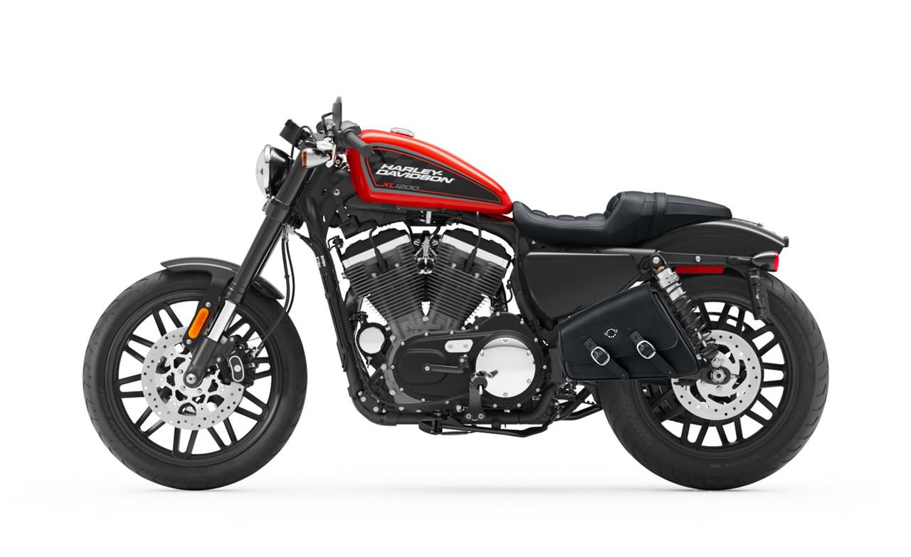 VikingBags Sportster Motorcycle Swing Arm Bag on Bike