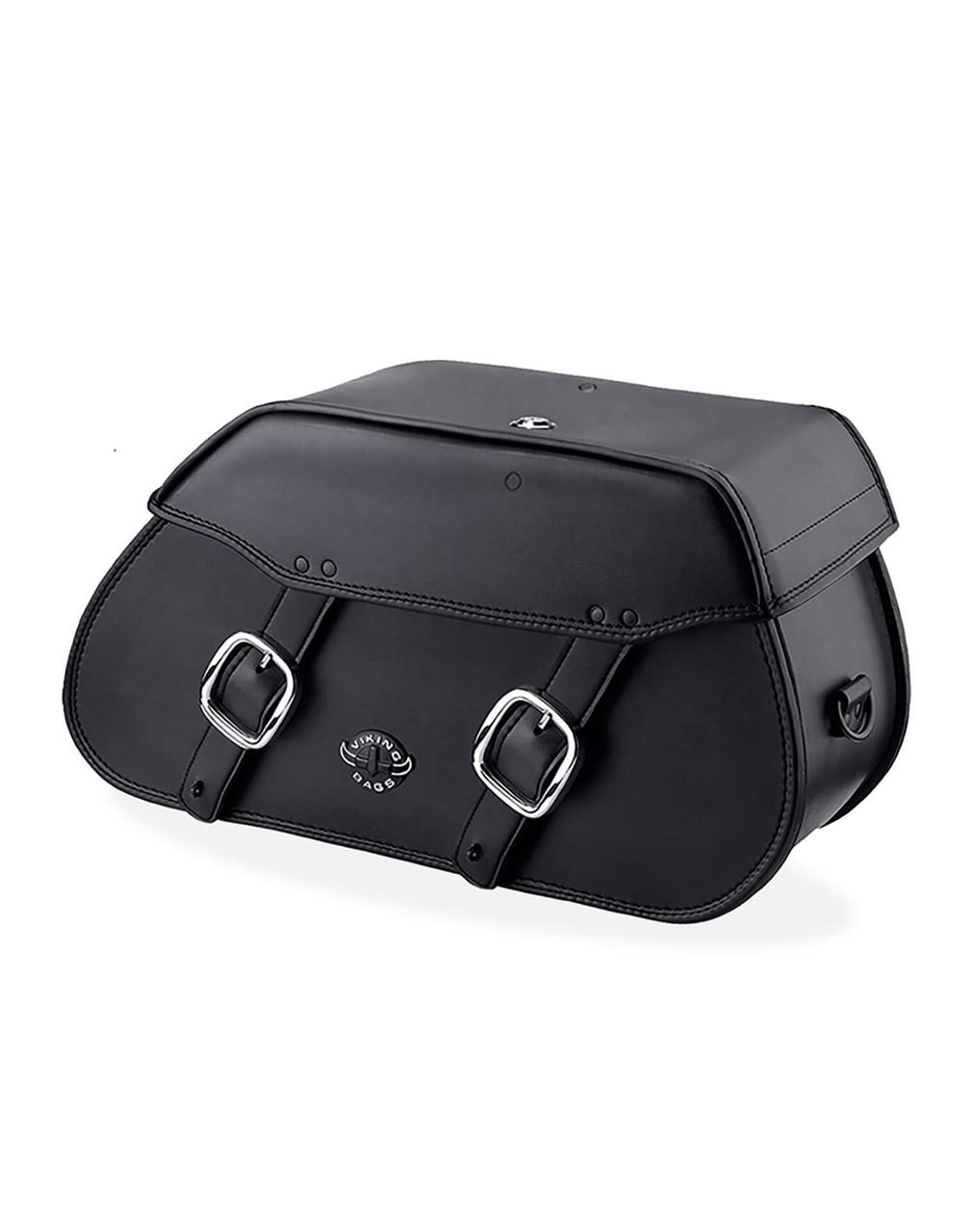 Viking Pinnacle Motorcycle Saddlebags For Harley Softail Night Train FXSTB Main Bag View