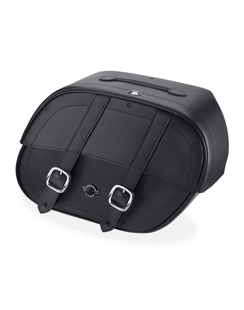Viking Large Shock Cutout Motorcycle Saddlebags For Harley Sportster 1200 Low XL1200L Main Bag View