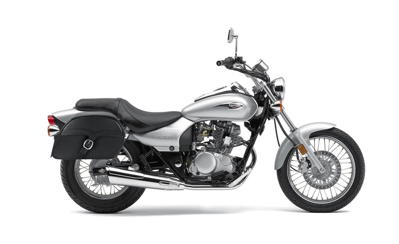 Kawasaki Eliminator 125 Slanted SS Medium Motorcycle Saddlebags Bag on Bike View