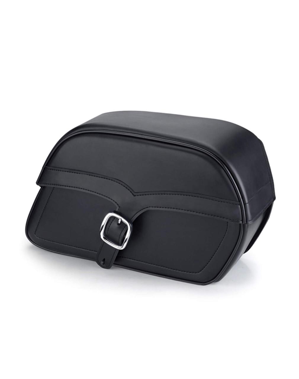 Viking Slant Motorcycle Medium Saddlebags For Harley Softail Springer FXSTS Main Bag View