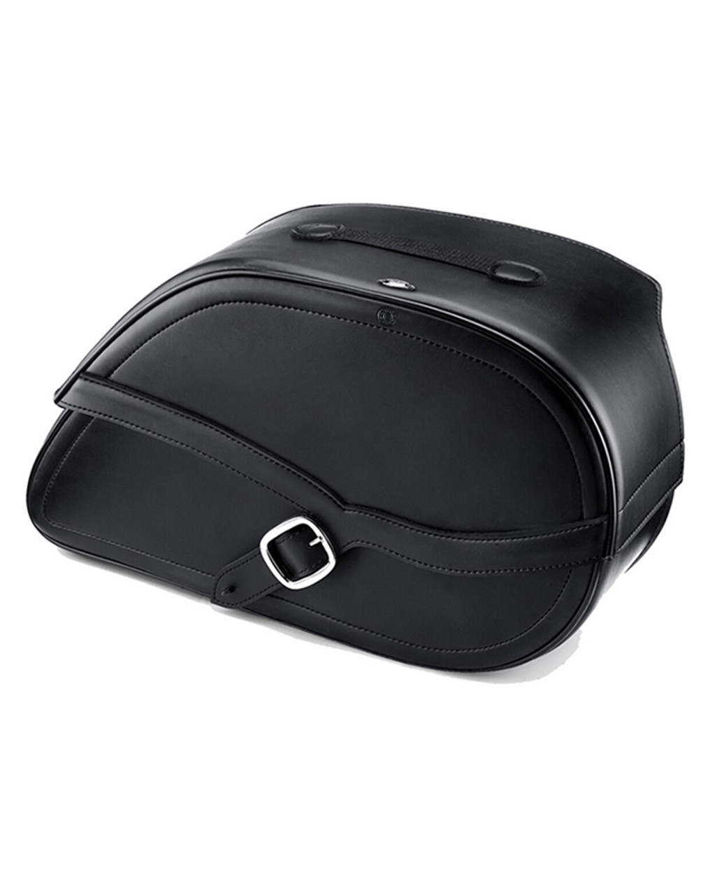 Viking Shock Cutout Armor Large Motorcycle Saddlebags For Harley Dyna Low Rider FXDL Main Bag View