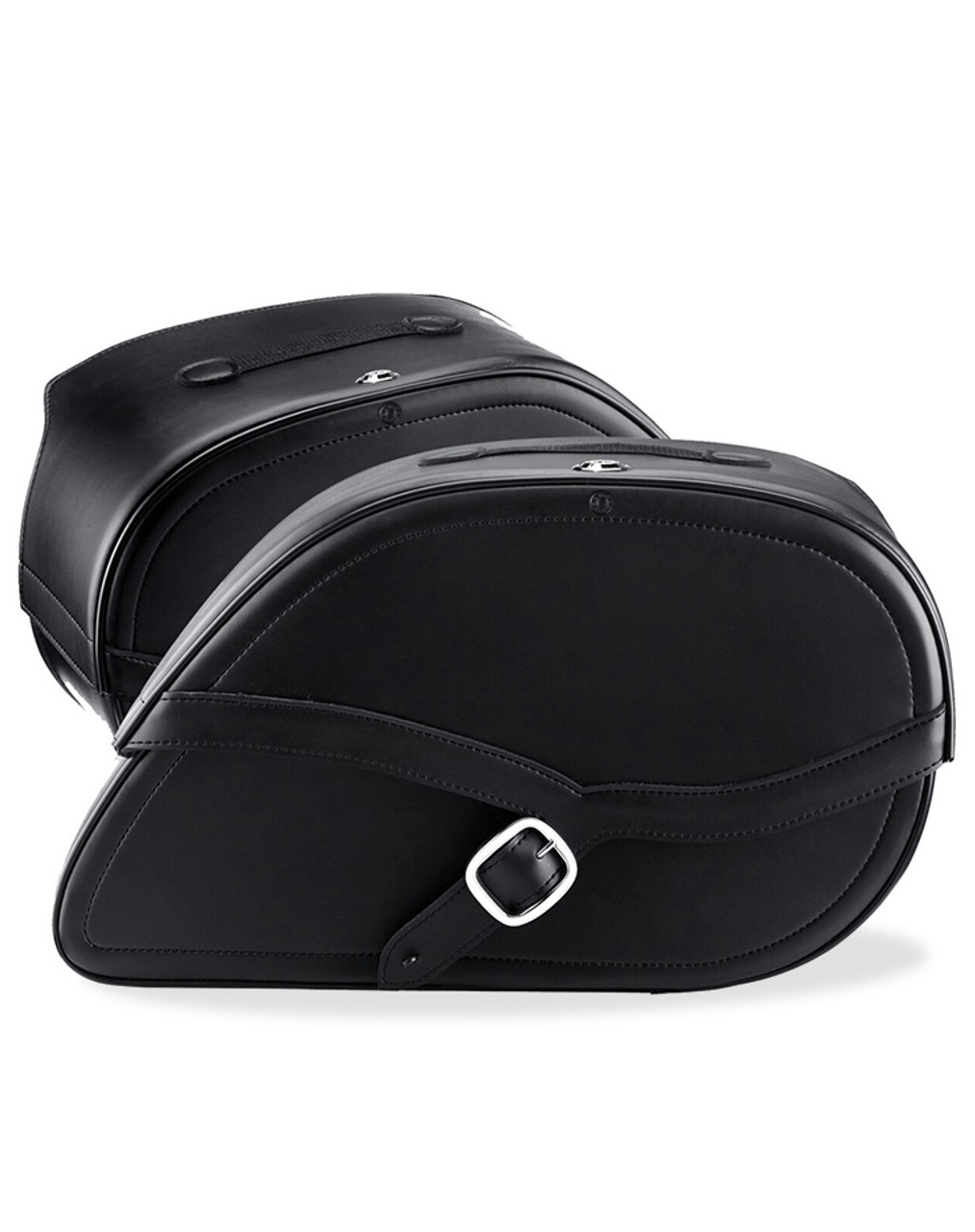 Viking Armor Shock Cutout Large Motorcycle Saddlebags For Harley Dyna Switchback Both Bags View