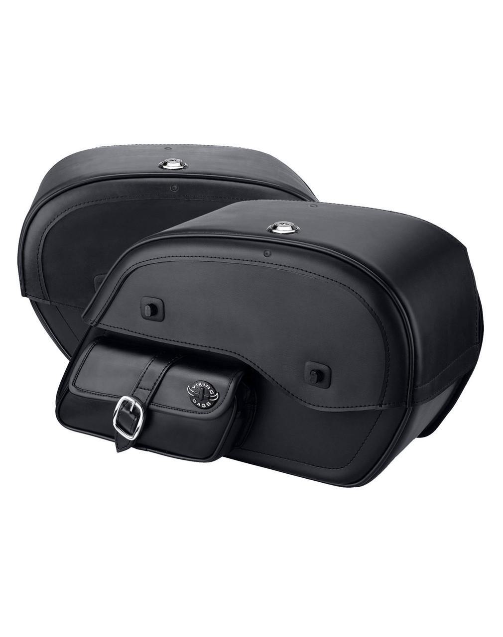 Honda 1500 Valkyrie Interstate Side Pocket Motorcycle Saddlebags Both Bags View