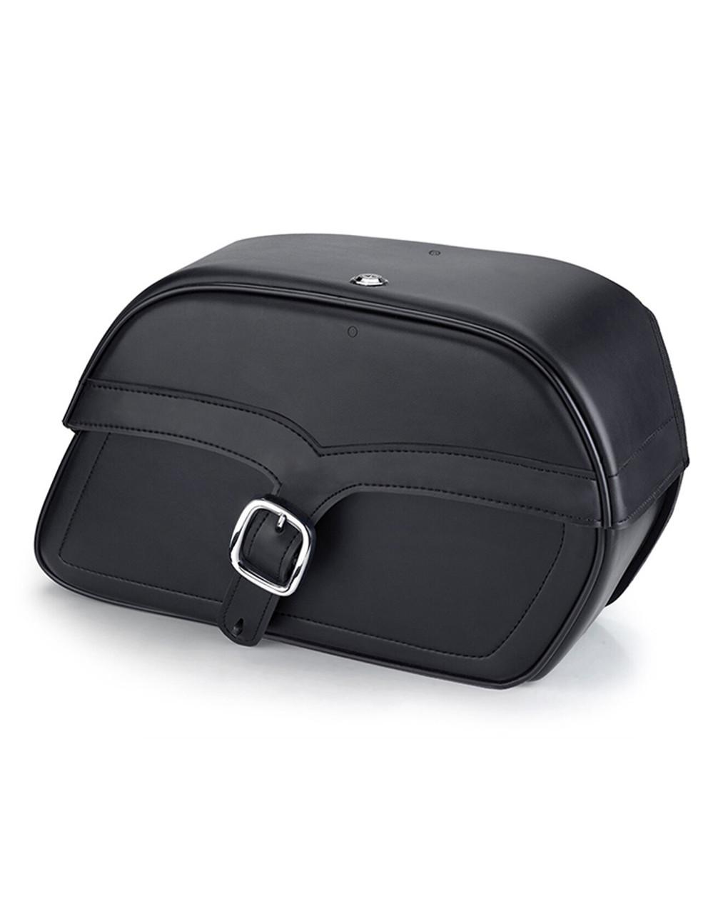 Honda VTX 1800 N Charger Single Strap Large Motorcycle Saddlebags Main Bag View