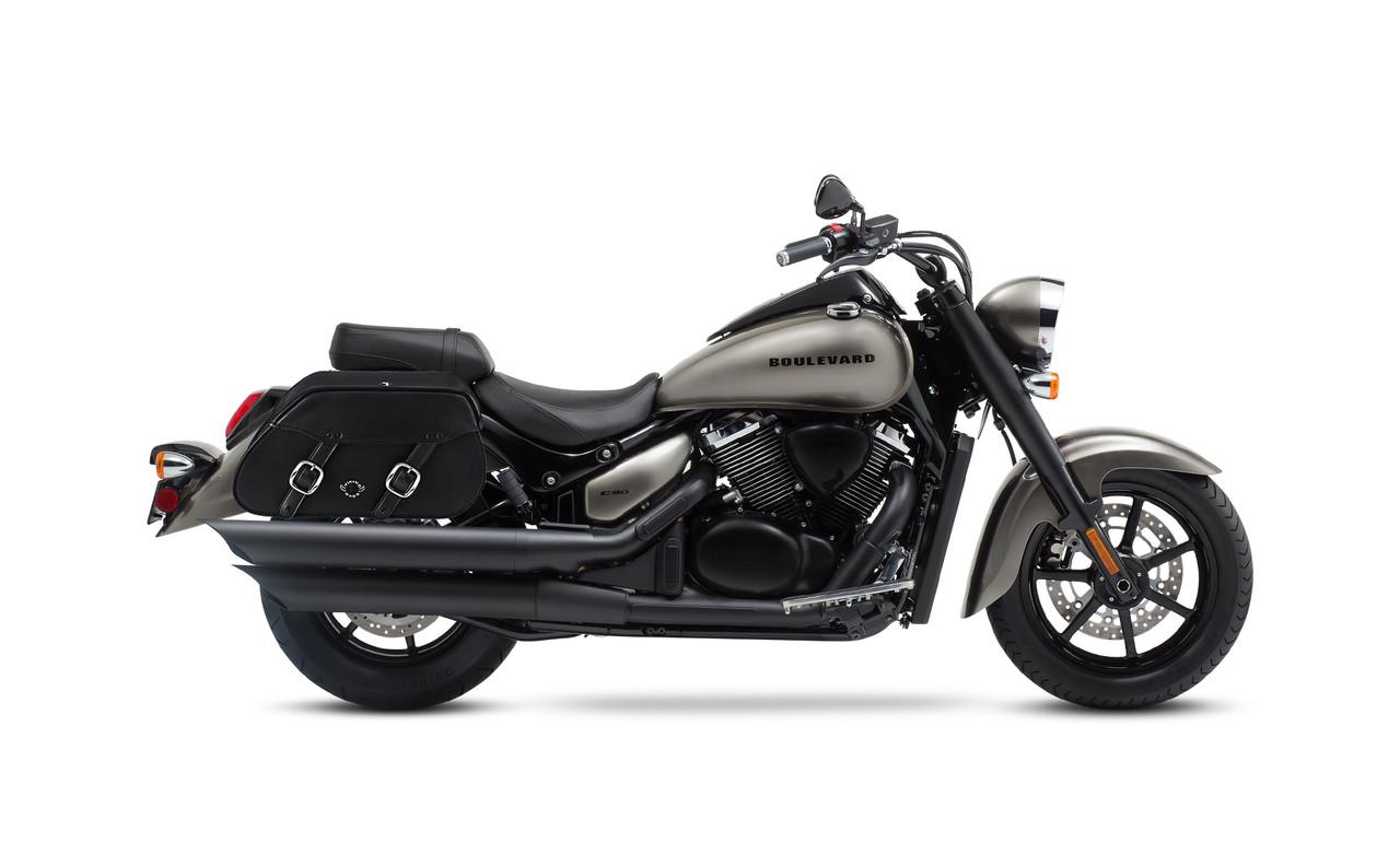Suzuki Boulevard C90,VL1500, Intruder Pinnacle Saddlebags Bag on Bike Veiw