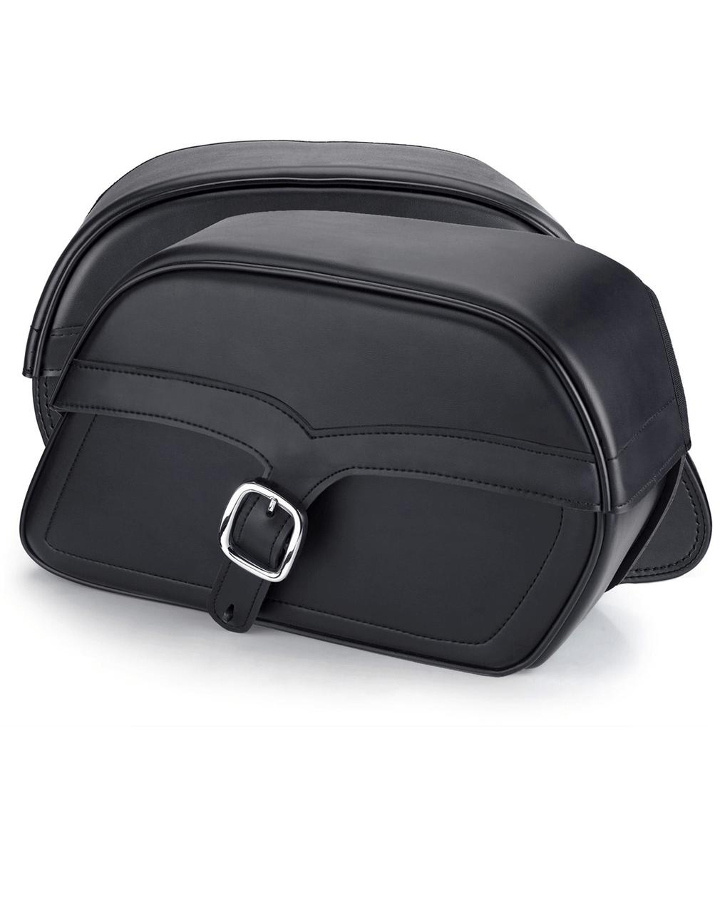 Honda 1500 Valkyrie Interstate SS Slanted Medium Motorcycle Saddlebags Both Bags View