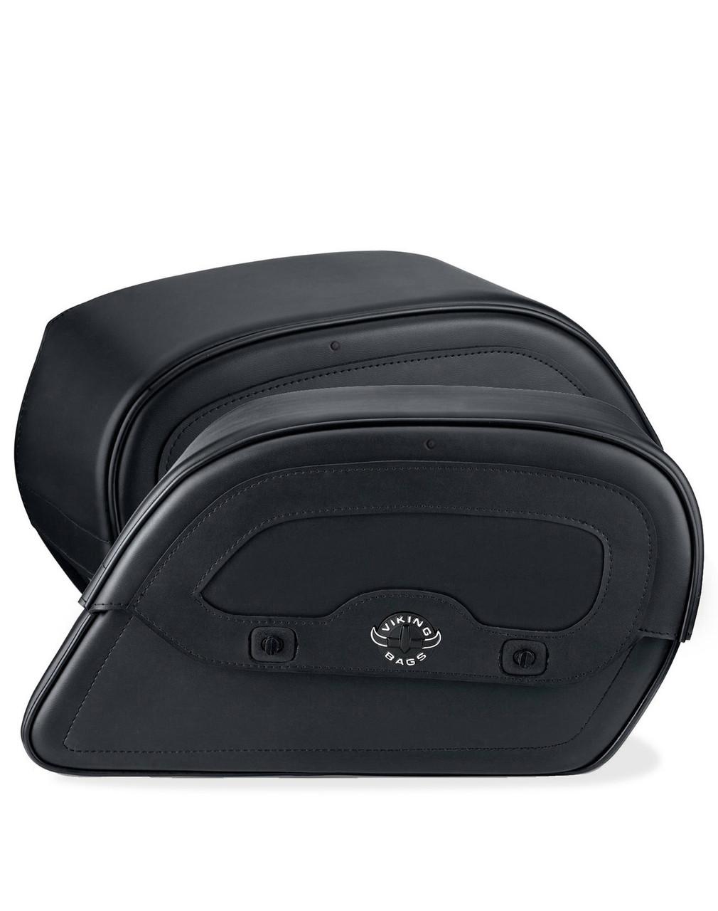 Honda 1500 Valkyrie Interstate Warrior Slanted Medium Motorcycle Saddlebags Both Bags View