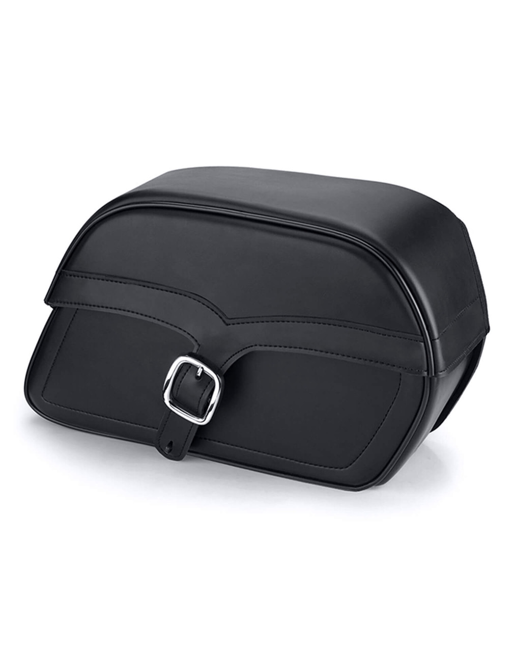 Honda 1500 Valkyrie Standard SS Slanted L Motorcycle saddlebags Main Bag View