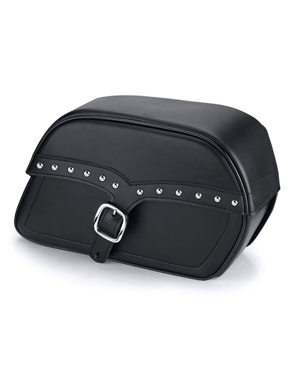Honda 1500 Valkyrie Standard Uni SS Slanted Studded L Motorcycle saddlebags Main Bag View