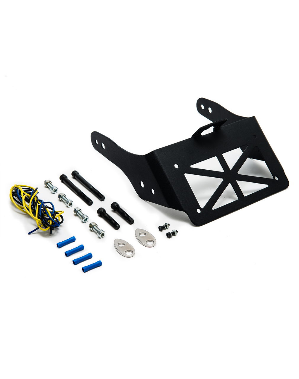 Dyna Licence Plate and Turn Signal Relocation Kit with Nets and Bolts