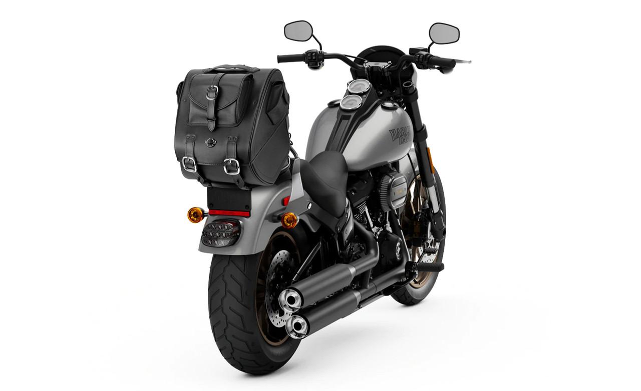 Viking Classic Motorcycle Trunk Bag on Bike View
