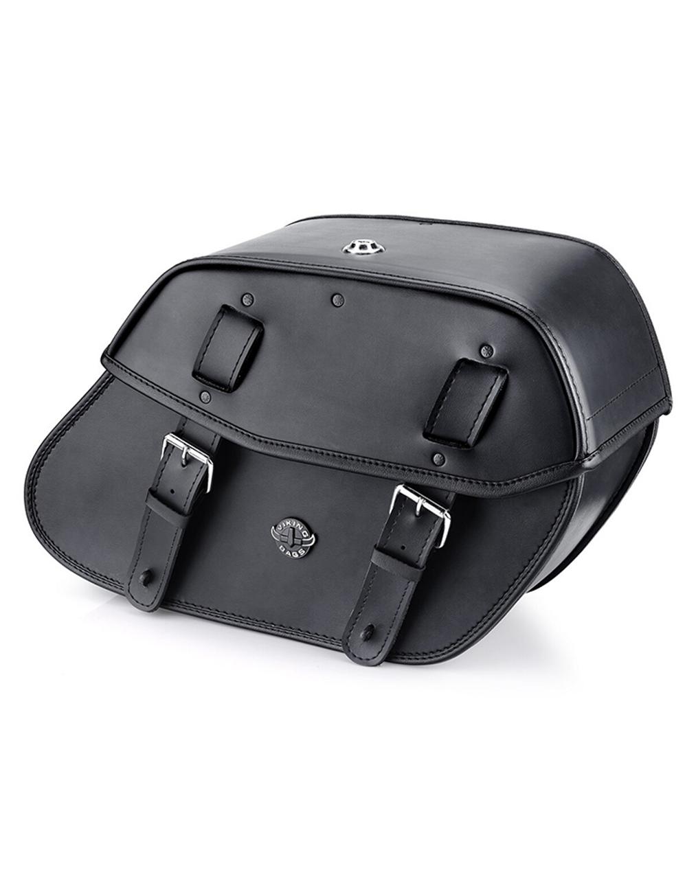 Viking Odin Large Motorcycle Saddlebags For Harley Softail Springer FXSTS Main Bag View