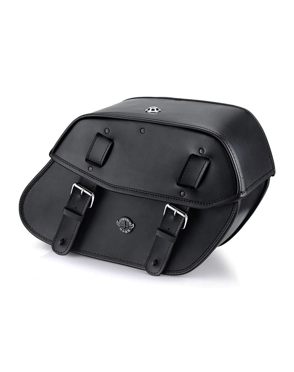 Viking Odin Medium Motorcycle Saddlebags For Harley Softail Custom FXSTC Main View