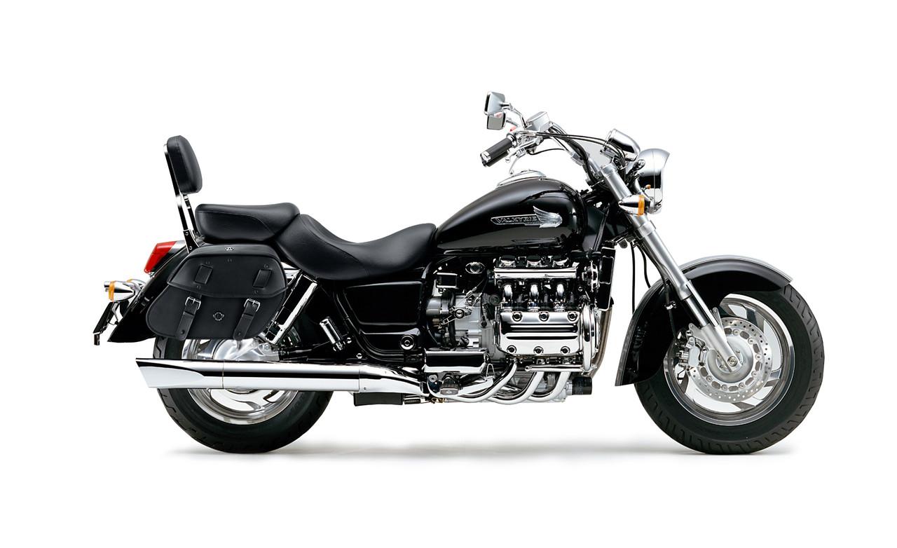 Honda 1500 Valkyrie Standard  Viking Odin Medium Motorcycle Saddlebags Bag On Bike View