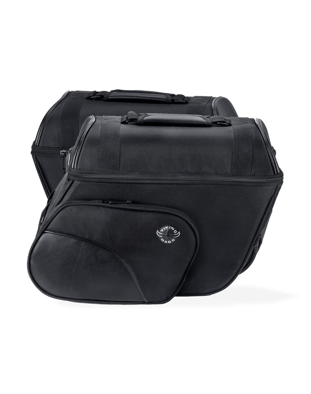 Victory Judge Slanted Medium Motorcycle Saddlebags Both Bags View