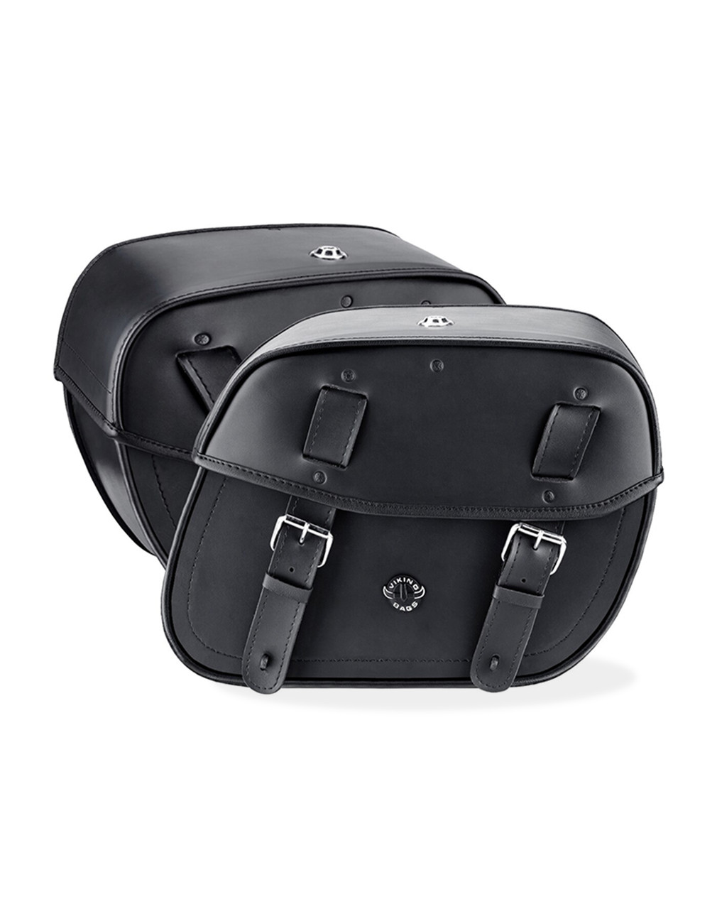 VikingBags Specific Medium Double Strap Shock Cutout Motorcycle Saddlebags For Harley Dyna Low Rider FXDL Both Bags View