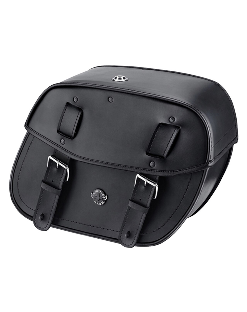 Viking Sportster Specific Shock Cutout Motorcycle Saddlebags For Harley Sportster 1200 Low XL1200L Main Bag View