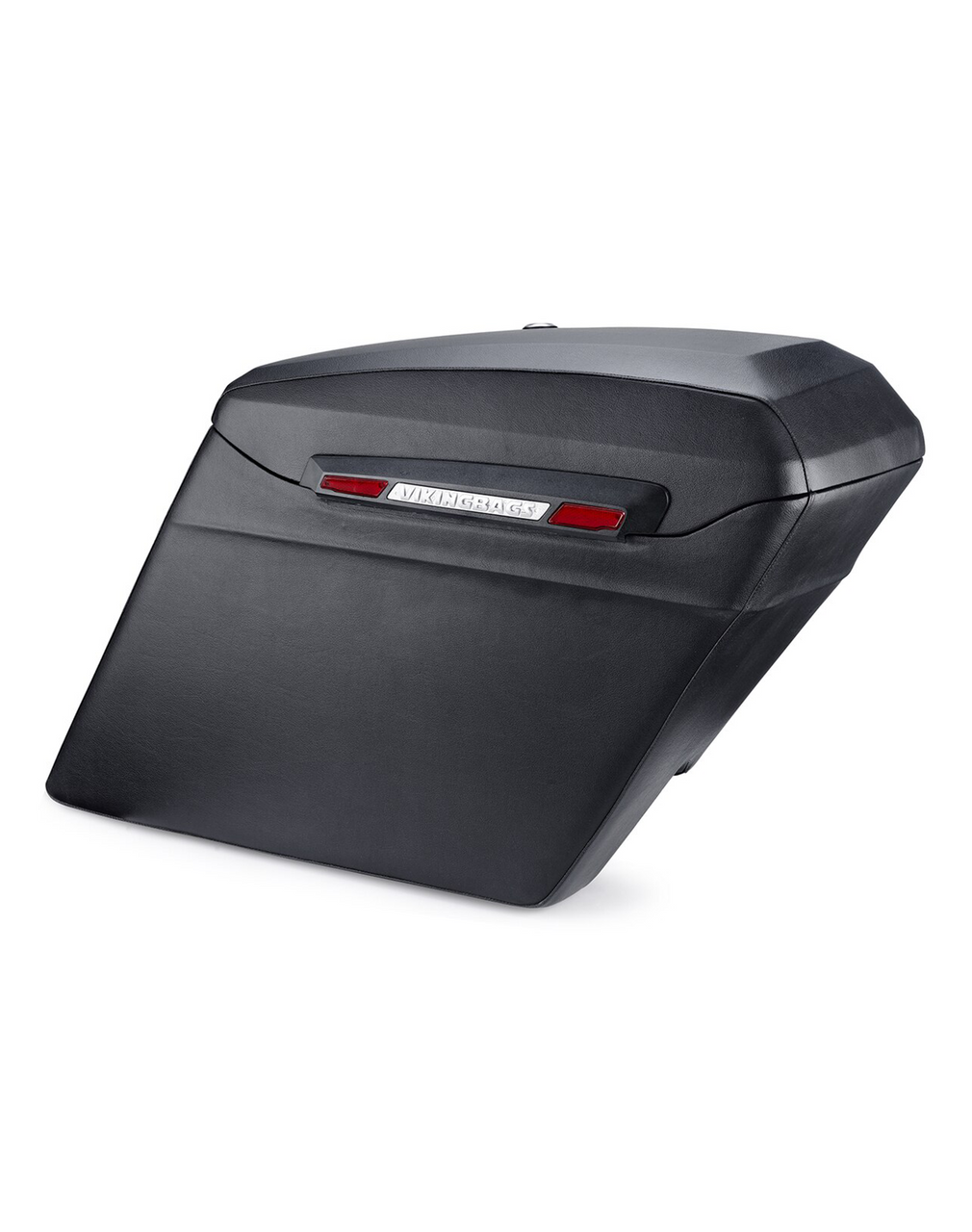 Viking Touring Bagger Leather Covered Extra Large Stretched Saddlebags For Harley Road King Bag View