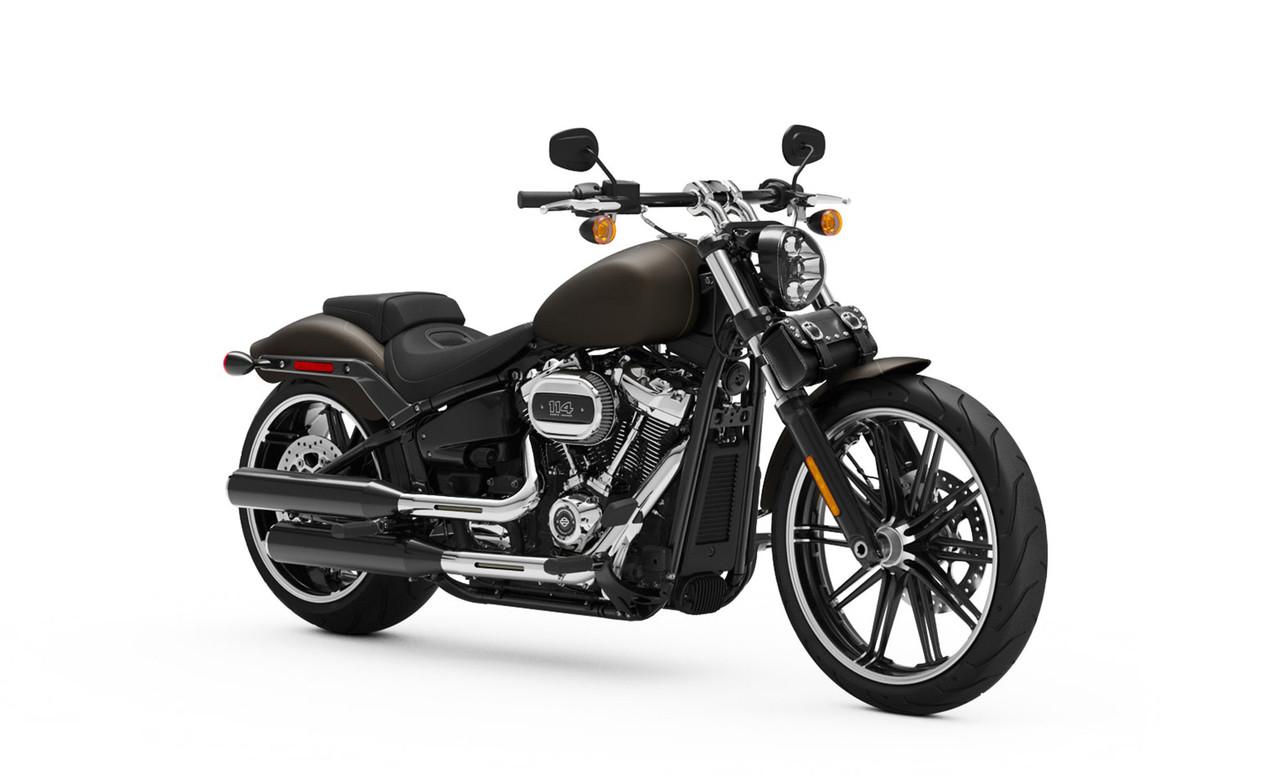 Victory Armor Studded Motorcycle Tool Bag Bag On Bike View