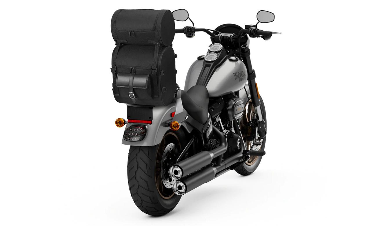 Kawasaki Economy Line Motorcycle Sissy Bar Bag on Bike View