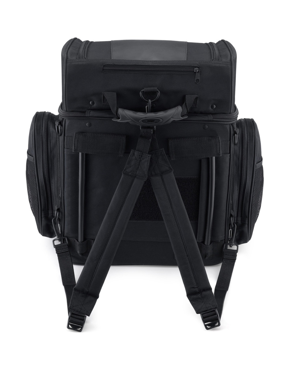 Honda Medium Back Rest Motorcycle Sissy Bar Bag back Side View