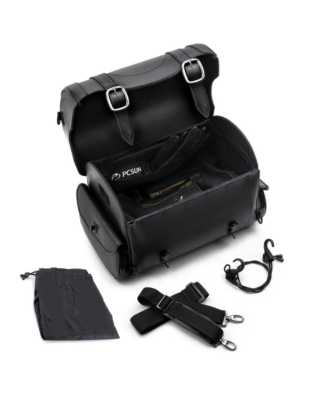 Harley Davidson Viking Century Studded Motorcycle Sissy Bar Bag Strap Set