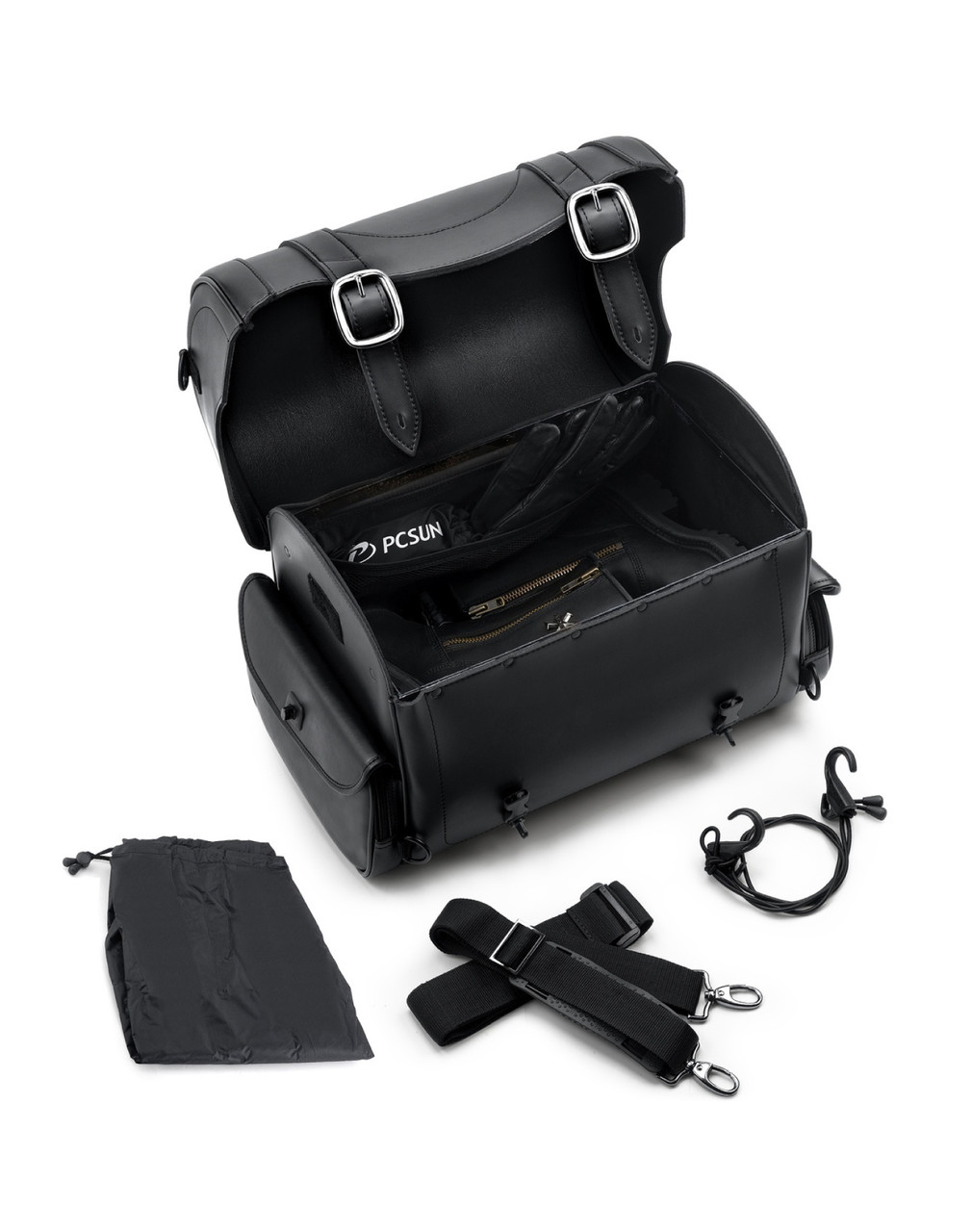 Triumph Viking Century Studded Motorcycle Sissy Bar Bag Straps Set
