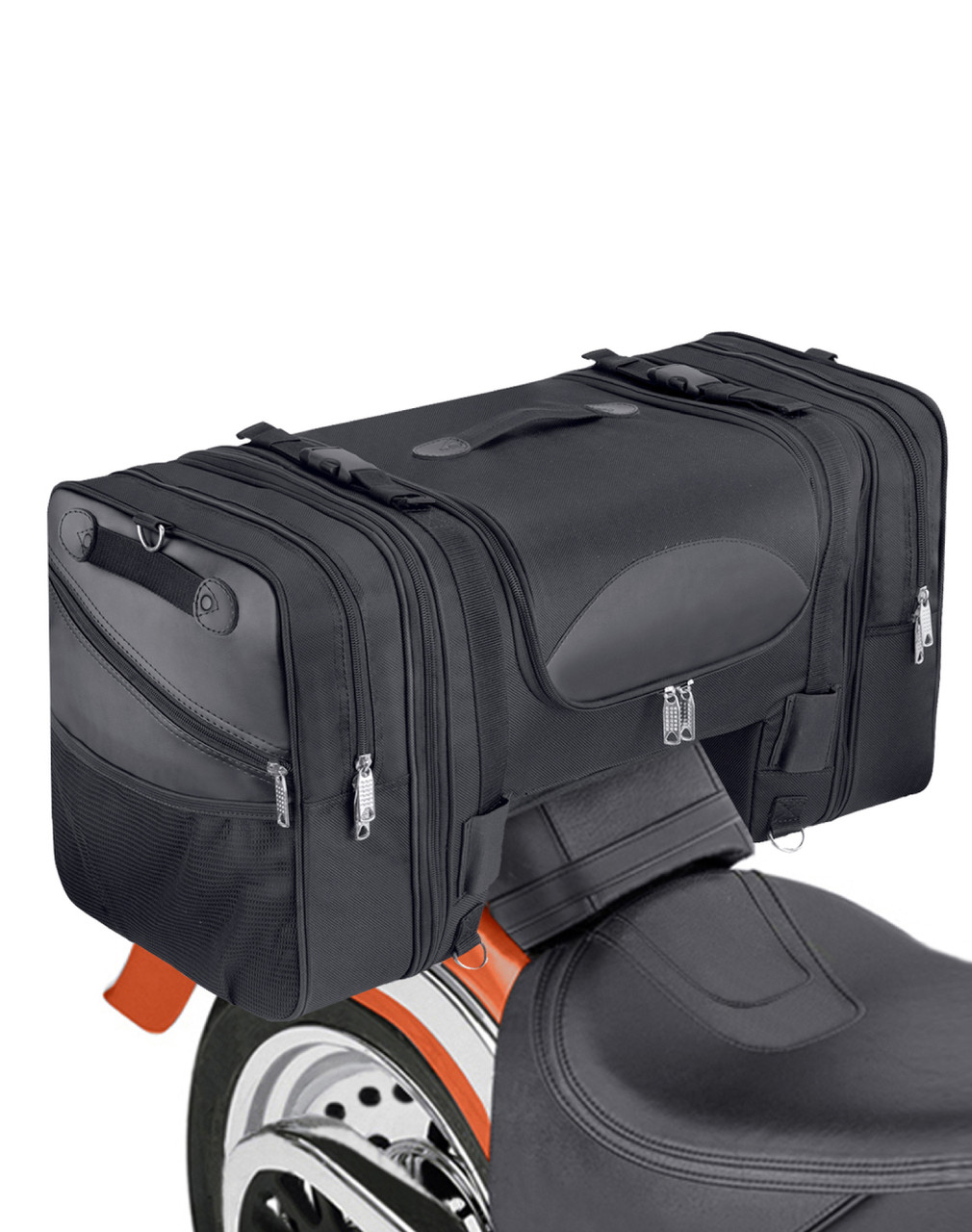 Honda Viking Expandable Cruiser Large Motorcycle Sissy Bar Bag